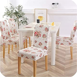 Spandex Chair Cover Leaves Chair for Kitchen Blue Elastic Dining Chair Covers CH37018,4,6PCS