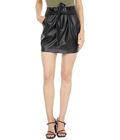 Blank NYC Faux Leather Belted Skirt