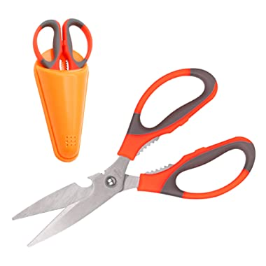 Kitchen scissors heavy duty- Great Poultry Shears, Soft Grip Handles Sharp Scissors used for Meat, Vegetables, Herbs, Game Shears, Seafood and Nut Cracker. Utility Scissors for Home or Office use.