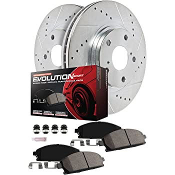 Power Stop CRK6996 Coated Rotor and Ceramic Brake Pads-Front