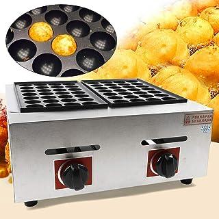 CNCEST Takoyaki Grill Pan 56 Holes Commercial Takoyaki Fish Ball Machine 56 Holes 110V US