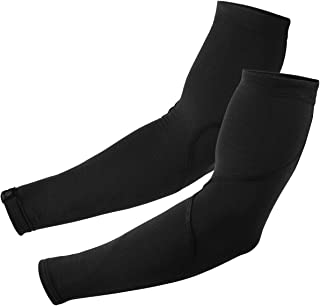 Snēk Cycling Merino Arm Warmers - Cycling Sleeves - Black - Made in the USA