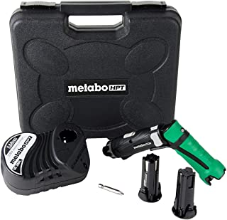 Metabo HPT Cordless Screwdriver Kit, 3.6V, Lithium Ion Batteries – 2, Dual Position..