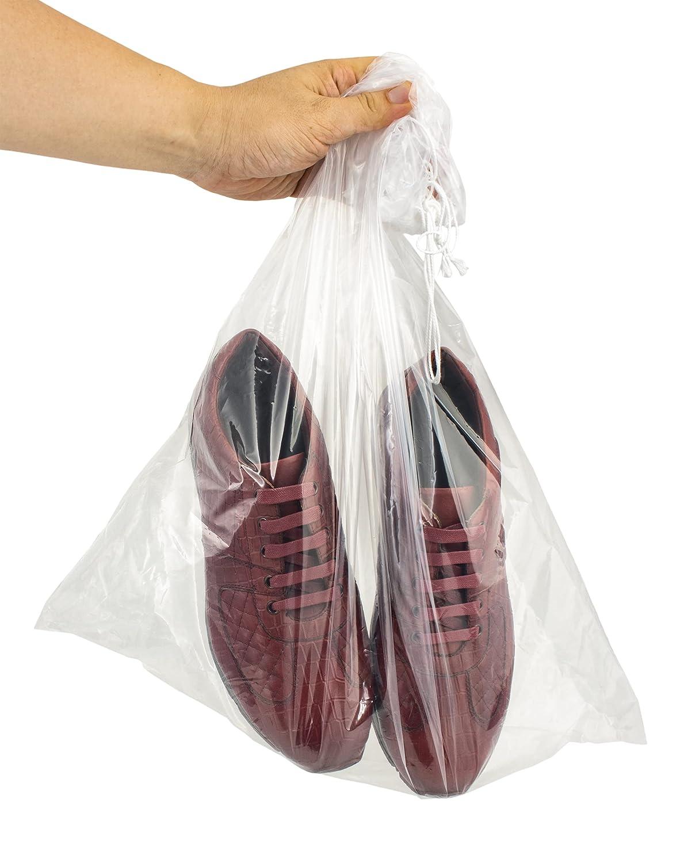APQ Popular popular Pack of 100 Large Sacramento Mall Clear 18 24 Bags Polyethylene Drawstring x