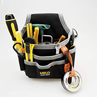 Melo Tough Technician/maintenance and Electrician's Small Tool Pouch with Multiple Pockets, Tool Organizer for Tools, Flashlights, Keys Fastened at the waist Easily