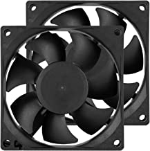 80mm Computer PC Case Fans DC 12V 8cm 2 Pin XH 2.54 High Performance Cooling Fan for Power Supply 3000RPM 2-Pack