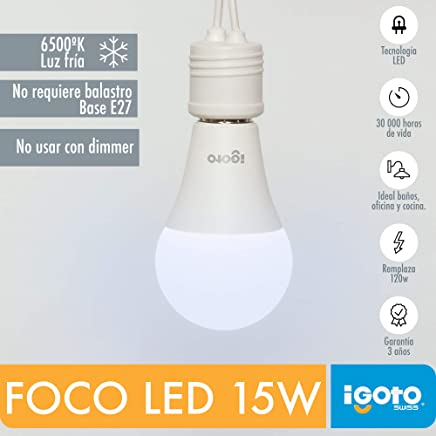iGOTO F10115 Foco A60, 15 Watts