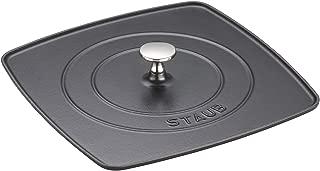 Staub 1203123 Cast Iron Square Grill Press, 10.3-inch, Black Matte