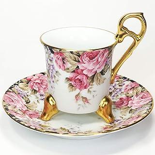 TEA ROAD 5000 バーミンガム 3本足 カップ&ソーサー 珈琲紅茶兼用 白磁 110㏄