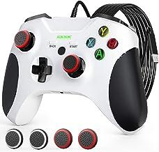 Controle com fio para Xbox One, JORREP 2 metros com fio controlador Pro com conector de áudio, feedback de vibração, gamep...