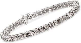 1.00-1.10 ct. t.w. Diamond Tennis Bracelet in Sterling Silver