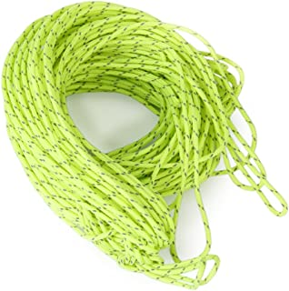 20m 1.8MM Fluorescent Reflective Guyline Tent Rope Camping Cord Paracord Green by NYKKOLA