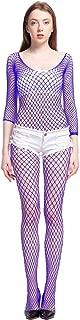 LemonGirl Women Bodystockings Lingerie Long Sleeve Bodysuit Stockings Free Size