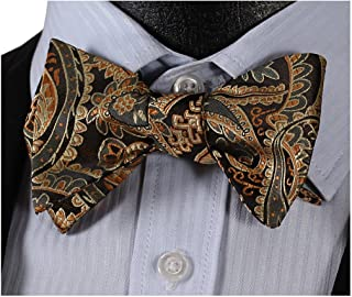 Men's Self Tie Bow Tie Classic Woven Silk Bowtie for Tuxedo & Wedding