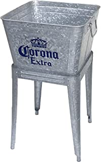 Leigh Country MC 47940 Galvanized Steel 42 Qt. Corona Extra Tub with Stand, Silver