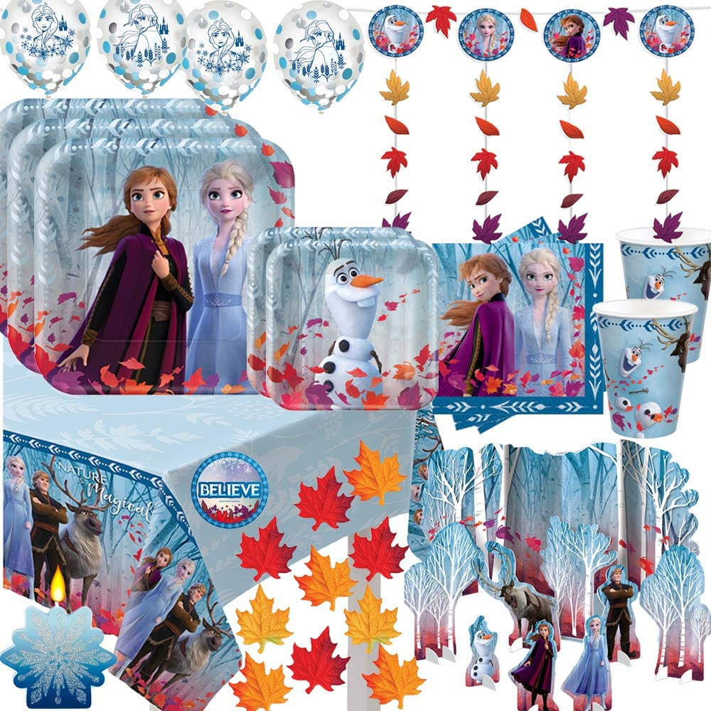 Mega OFFer Frozen 2 Birthday Party Supplies 16 For and Pack Decoration Free Shipping Cheap Bargain Gift
