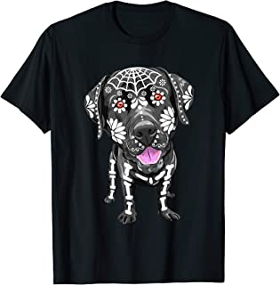 Labrador Retriever Dogs Skeleton Day Of The Dead Lab Dog T-Shirt