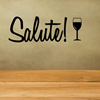 Salute Italian Toast Vinyl Decal Home Decor Vinyl Wall Decal Great House Warming Gift Home Wall Bar Kitchen Decor