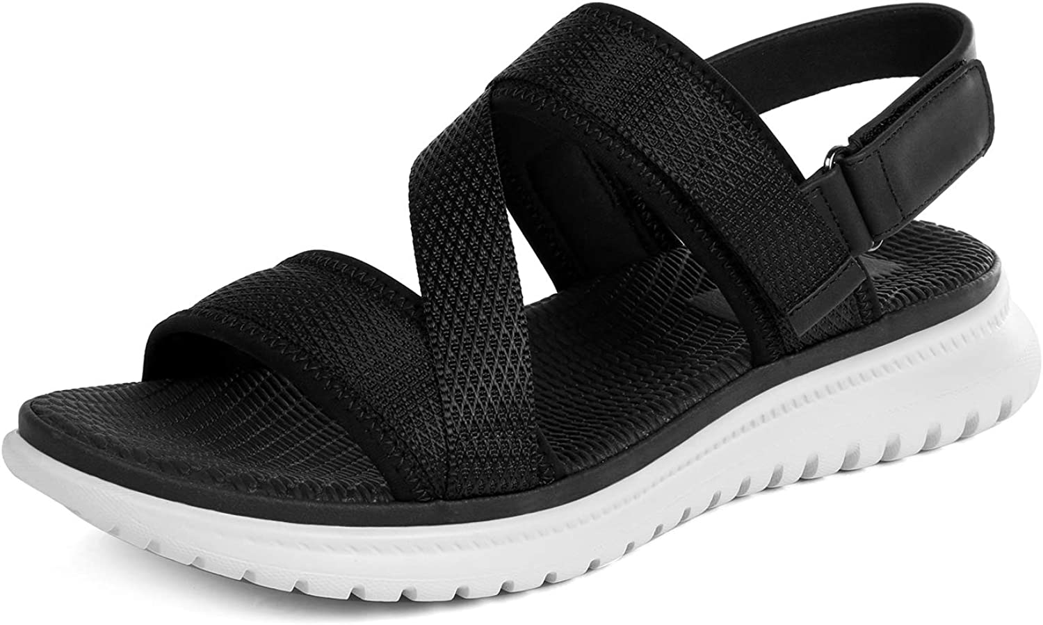 Dacomfy Women's Wedge Sandals Casual Summer Shoes Outdoor Beach Sandals Comfortable Slip on Sport Sandal
