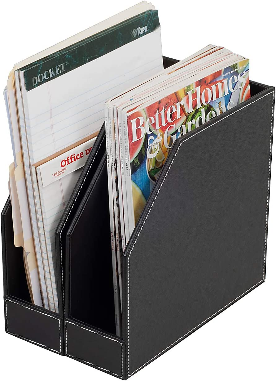 Executive PU Leather 2021 autumn and winter new Vertical File Produc Holder Office Folder Max 71% OFF