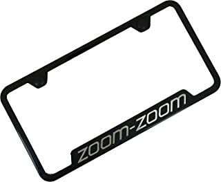 Automotive Gold Laser Etched Zoom Zoom Black Cut-Out Frame