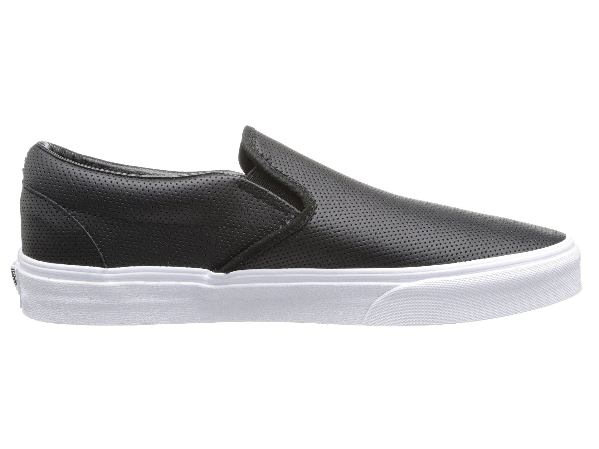Vans Leather on™ Black Core Classic perf Classics Slip AqAU7r