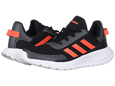 adidas Kids Tensaur Run (Little Kid/Big Kid) (Black/Solar Red/Grey) Boy