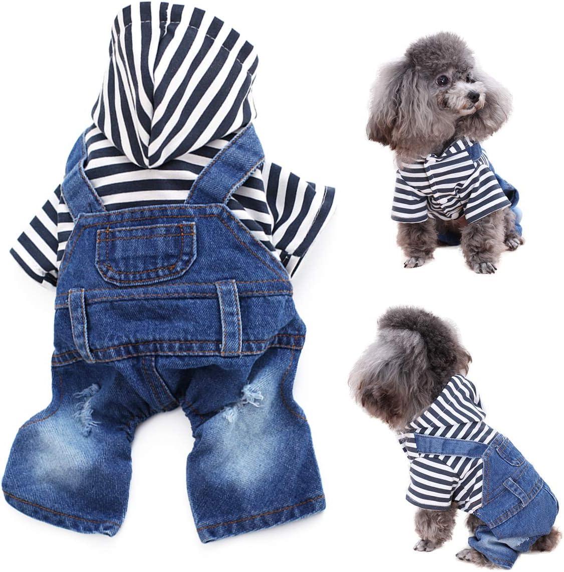 LKEX Under blast sales Pet Clothes Jumpsuit Japan Maker New Dog Jeans Jacket B Shirt Cool Puppy