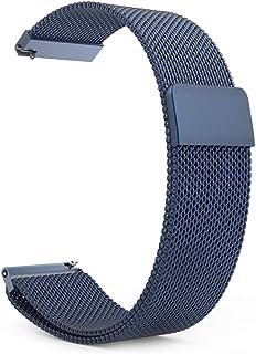 سير ساعة سامسونغ قير س3  فرونتير و كلاسيك، وساعة موتو 360 ، على شكل ستانل ستيل لا يصداء  ، لون أزرق