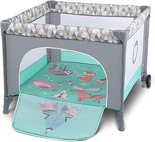 Lionelo Sofie - Parque infantil para bebé (desde el nacimiento hasta 15 kg, con bolsa de transporte), color turquesa