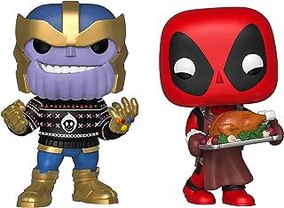 Funko Marvel: Pop! Holiday Marvel Collectors Set 3 - Thanos, Deadpool