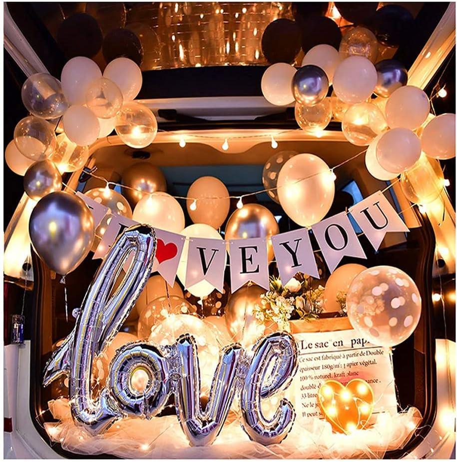 ASKLKD Car Trunk Surprise Decoration Romantic Proposal Arrangeme