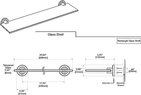 W Minimalist Glass Shelf in Satin Nickel 4296A Gatco Latitude II 20 in