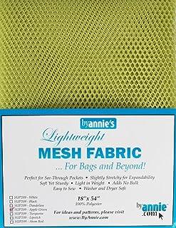 "Annie Mesh Fabric Lightweight 18""x 54"" Apple Green, 18"" by 54"""