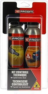 Facom 006020 Kit Contrôle Technique Diesel 2X300 ml - Nettoyant injection et traitement anti fumées