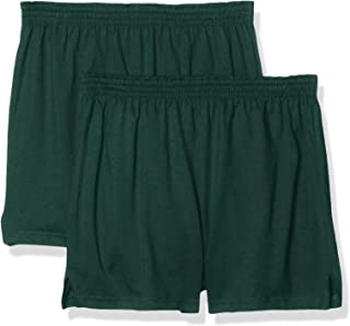 Soffe Juniors' Authentic Cheer Short, Dark Green, X-Large (2-Pack)