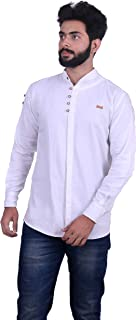 ROSSO FEM Men's Cotton Solid Casual Shirt Party Wearer/Office Wearer/Casual Daily Uses