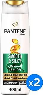 Pantene Pro-V Smooth & Silky Shampoo  2 x 400 ml Dual Pack