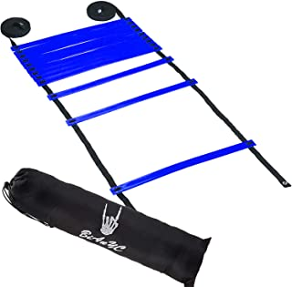 Speed and Agility Ladder with a Carrying Bag - 6M/12 Rung Ladder thickness-5mm-width 20mm-Length 40CM (Blue)