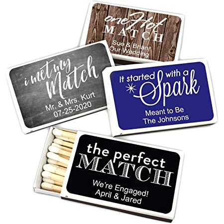 Wedding Matches 1339 Matches Birthday Matches Let/'s Get Lit Engagement Party Wedding Decor Personalized Matchboxes Party Matches