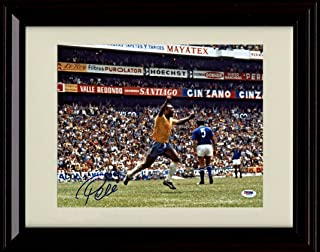 Framed Pele Autograph Replica Print - Team Brazil Goal Celebration - World Cup