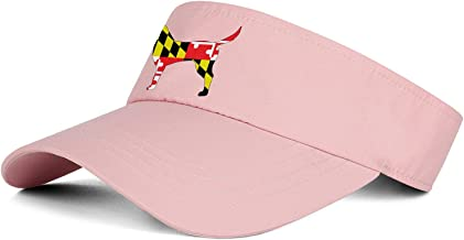 Men's/Women's Top Level Sports Sun Visor Hat Maryland Flag Westie Dog Silhouette Fashion Cap
