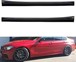 TC Sportline BO-BM30121742 X Style Add-On Polyurethane PU Side Skirt Spoiler for 2012-2015 BMW F30 320i 328i 335i