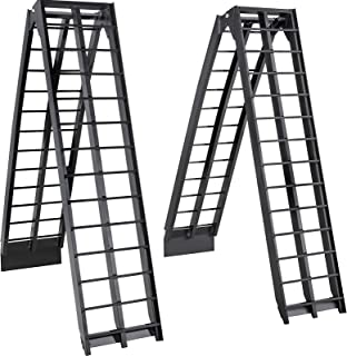 BestEquip Aluminum Ramps 9FT x 11.25 Inch ATV Ramps 1200LBS Capacity Truck Ramps for Car Motorcycle Loading Equipment with Attachment Hook and Serrated Rungs 1 Pair 2 Ramps