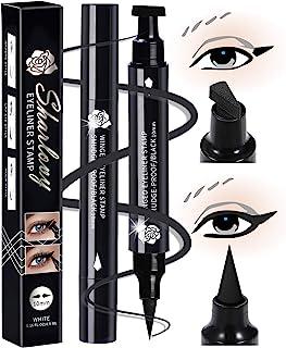 Black Eyeliner Stamp Wingliner-Winged Eyeliner Stamps for Perfect Wing Cat Eyes Stamp Eyeliner, long Lasting Liquid Eyeliner Waterproof Smudge Proof 10MM