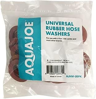 Aqua Joe AJHW-20PK 20 Count Aqua Universal Rubber Hose Washers