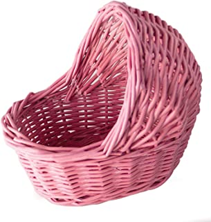 Willow Cradle Baby Shower Boy Basket in Pink - 7.5