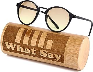 What Say ダブル カラーレンズ ミラーレンズ サングラス クリアレンズ 伊達メガネ 全34色 クラシックフレーム トレンド UV400 メンズ レディース ソフト & ハードケース 付