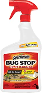 Spectracide Bug Stop Home Barrier Spray, Ready-to-Use, 32-Ounce, 4-Pack