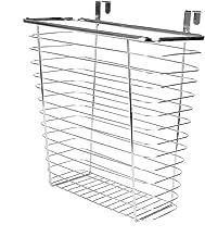 Over Door Cupboard Bin   Multi-Purpose Storage Basket   Kitchen & Bathroom Hanging Basket   Chrome Steel Mounted Organiser...